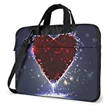 Bolsa de hombro para portátil, diseño de flores de cerezo rosa, a prueba de golpes, impermeable, para portátil, Estrella espléndida (Rosa) - 259841