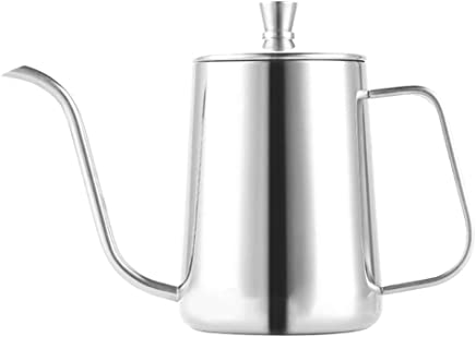 Wintefei 600Ml Coffee Pot Long Narrow Spout Stainless Steel Pour Over Gooseneck Kettle Anti Scald Portable Coffee Pot One Size Silver