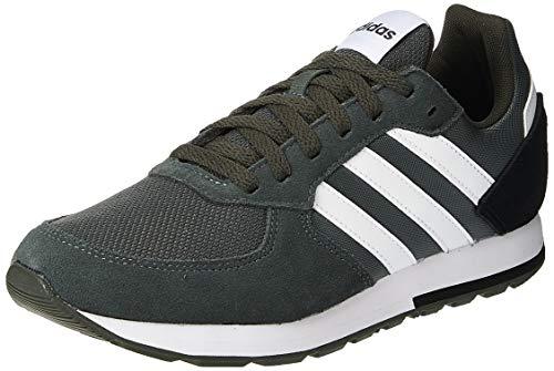 adidas F36889 8K Herren Sneaker aus Nylonmesh mit Besätzen herausnehmbare Sohle, Groesse 42, anthrazit