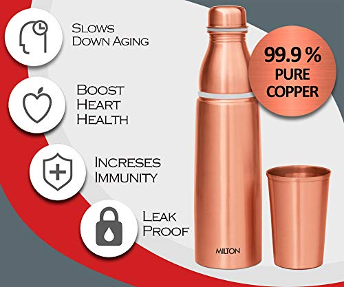 Milton Copper Combo 1000 Water Bottle, 890 ml, 1 Piece, Copper