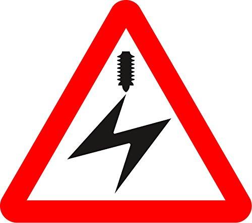 Overhead Cable eléctrico Seguridad Vial señal–3mm aluminio señal bajera con tiras de...