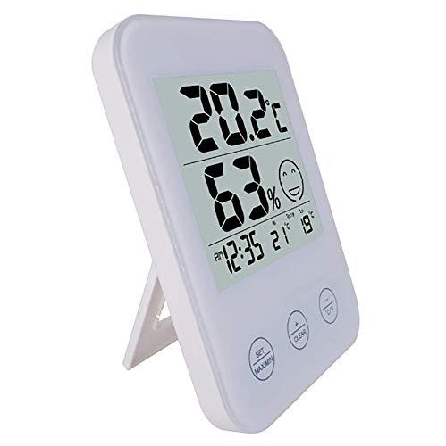 Wecker, Wireless Temperatur-Feuchtigkeits-Tester Sensor Electronics Uhr Wettervorhersage Digital-Wecker Für Schlafzimmer Und Büro