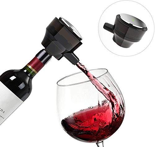 WLXW Decantador de Vino Tinto 2 en 1 Vino Ultrasónico Cerveza de Vidrio Oxidado...