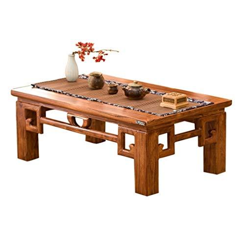Tables basses Meubles Petit Chinois Table Solide Table Fenêtre en Bois Style Japonais Mini Ordinateur Étude Petite Table (Color : Brown, Size : 80x50x30cm)