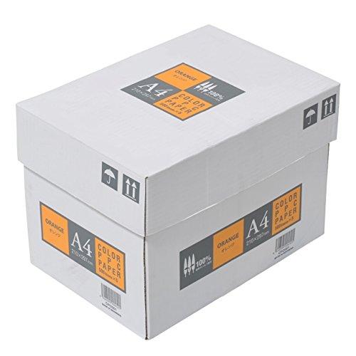 エイピーピー ジャパン カラーコピー用紙 A4 2500枚 500枚×5冊 オレンジ