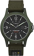 Timex Men's TW4B18800 Expedition Acadia Solar 40mm Green Fabric Strap Watch