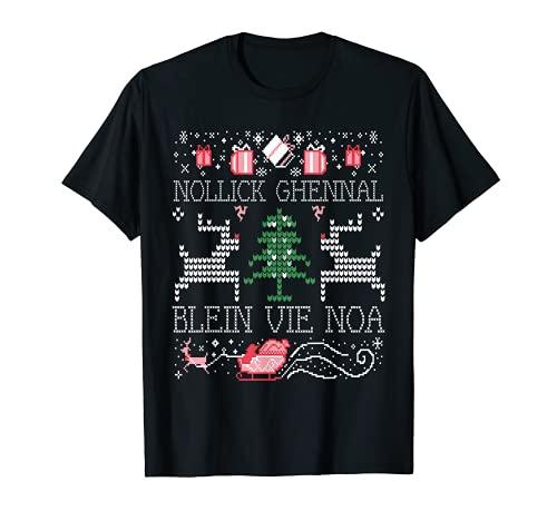 Feo Nollick Ghennal Blein Vie Noa Un Manx Saludo de Navidad Camiseta