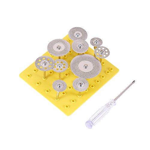 UKCOCO Disques de coupe de diamant Couper les lames de roue Pierres gemmes Ensemble de verre Outils rotatifs de la tige 8 trous 22mm