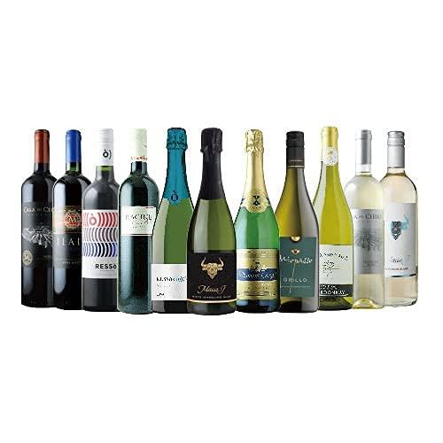 ワインショップソムリエ ソムリエ厳選!家飲みワイン11本セット(赤ワイン4本・白ワイン4本・スパークリン...