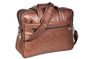 GOLDLINE Stylish Office Bag 17L/Travelling Bag/Backpack/Messenger Bag/Marketing Bag/Multipurpose Bag/Executive Bag/Satchel with Removable Shoulder Strap and Zippered Pockets Inside(43x12x33cm, Tan)