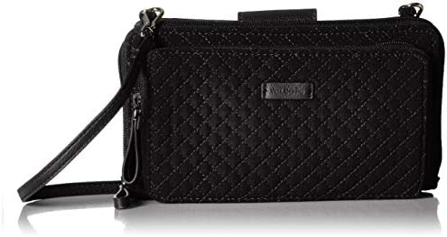 Vera Bradley Microfiber Deluxe All Together Crossbody Purse with RFID Protection Black product image