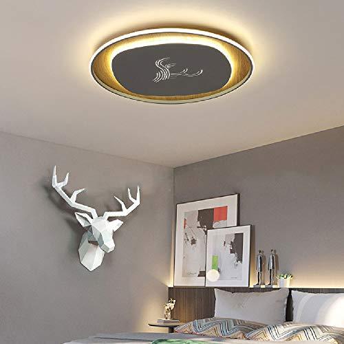 LED plafondlamp, 60 W, modern, ultradun, plafondlamp, metaal en acryl, plafondlamp, grijs, rond, hanglamp, plafondlamp, warmwit, 3000 K, Ø50 × H 3,5 cm