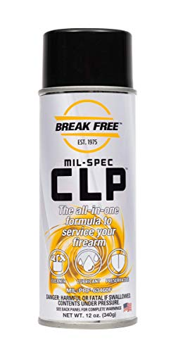 BreakFree CLP Gun Cleans Lubricates Prevent Aerosol Can, 12-Ounce/340gm, BF-CLP12, Clear (BF1009218)