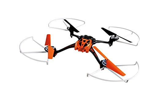 XciteRC 15013110 - Ferngesteuerter RC Quadrocopter Rocket 250 3D - 4 Kanal RTF Drohne, orange