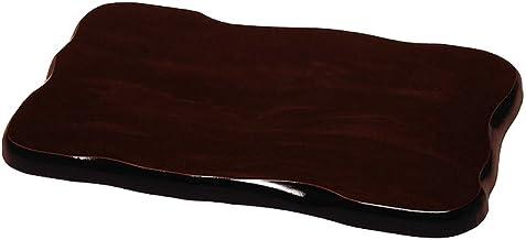 山家漆器点 花台 フラワースタンド 平板 黒檀調 12号 飾り台 敷板 和室 旅館 ホテル 花瓶 フラワーベース 日本製 国産 オシャレ おしゃれ 玄関 床の間