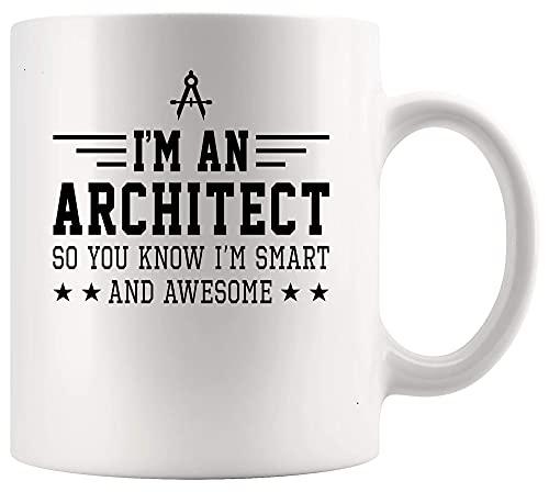 N\A Arquitecto Arquitectura Taza Copa Inteligente Impresionante Arquitecto Taza 11oz Arquitectura