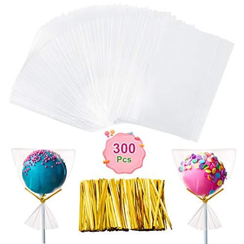 GWHOLE 300 Stück Cellophantüten Klein 7 x 10 cm Klarsicht für Gebäcke Süßigkeiten