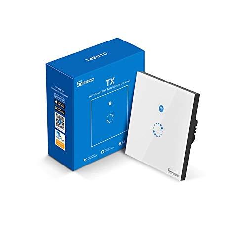 Sonoff T4EU1C Interruptor de Pared Wifi sin Cable Neutro Alexa...