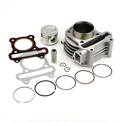 XIOSOIAHOU Piston Ring 39/44/47/50mm Big Bore Kit Cylinder Piston Rings Fit For GY6 50cc To 100cc 4 For Stroke Scooter Moped For ATV With 139QMB 139QMA Engine (Color : 44mm (60cm))