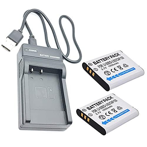 Cámaras Quick Battery Kit de repuesto de 2 paquetes compatible con Olympus SH-21, SH-25MR, SZ-20, SZ-30MR, SZ-31MR iHS Accesorios para cámaras digitales ( Color : 2 Battery+1 USB Charger )