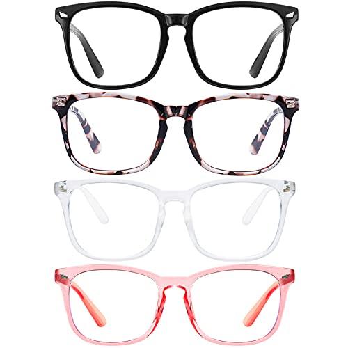 Blue Light Blocking Glasses Square Nerd Eyeglasses Frame...