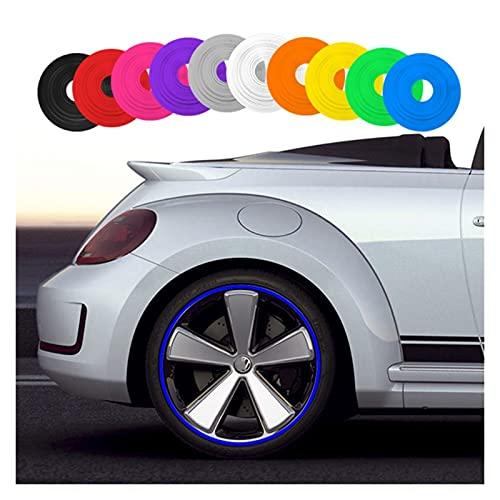 MMYX 8m / Roll Car Styling Rueda Llantas Protector Decoración Strip Moldura de Goma Tip IPA RIMBLADES Vehículo Color Neum Time Line (Color : Blue)