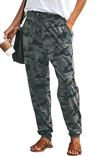 MNLYBABY Women's Comfy Casual Pajama Pants Camouflage Print Drawstring Palazzo Lounge Pants…
