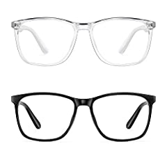 Blue Blocker Glasses - PengSer's non prescription fake glasses have a coating for eye protection specially developed for whom exposed to the blue-violet and LED light of digital devices, like computer reading, gaming, smartphones & TVs. Our blue ligh...