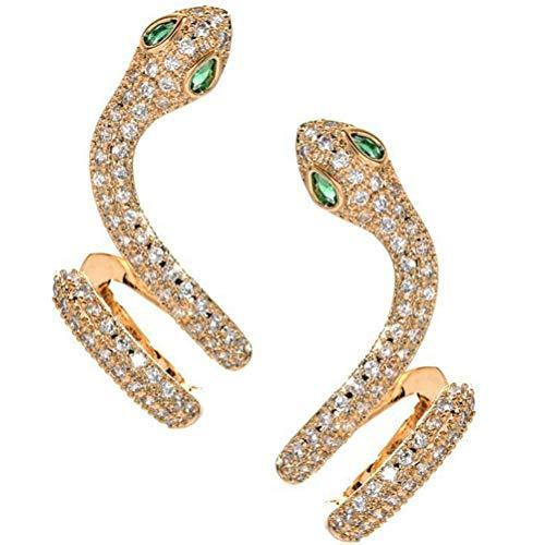 Pendientes de serpiente, elegantes pendientes de serpiente de cristal, pendientes de serpiente de escalada, elegantes pendientes de animales de simulación, el mejor regalo de San Valentín para mujeres