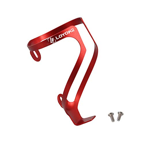 LOYOKii Water Bottle Holder for Bike Lightweight Bike Water Bottle Cage Aluminum Alloy Bicycle Cages Bike Drink Holder for Mountain Bike Road Bike Cycling Red