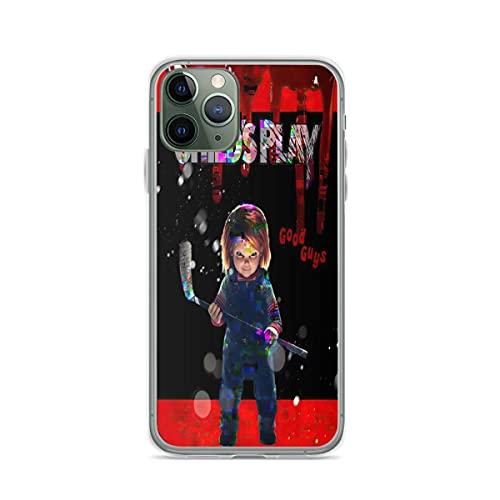 Fundas para teléfono Pure Clear compatibles con iPhone Samsung Xiaomi Redmi Note 10 Pro/Note 9/8/9A/Poco M3 Pro/Poco X3 Pro Funda para Childs Play Funda Protectora de Silicona TPU