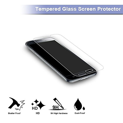 Galaxy S5 Screen Protector,TANTEK [Bubble-Free][HD-Clear][Anti-Scratch][Anti-Glare][Anti-Fingerprint] Premium Tempered Glass Screen Protector for Samsung Galaxy S5,-[3Pack]