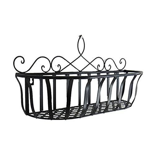 Lingge Balcón Colgando Rack de Flores, Caja de la Ventana Rack, Hierro Malla balcón Maceta Maceta Estante Pot Stand para Oficina casa balcón jardín decoración Duradera Designer