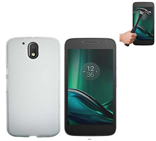 Todobarato24h Funda TPU Lisa Motorola Moto G4 Plus Blanca + Protector DE...