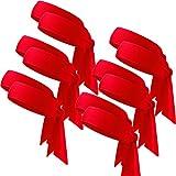 WILLBOND 12 Pieces Tennis Tie Headband Hair Band Unisex Dry Head Tie Sport Tie Back Headband for Basketball, Running, Tennis, Karate, Athletics (Red)