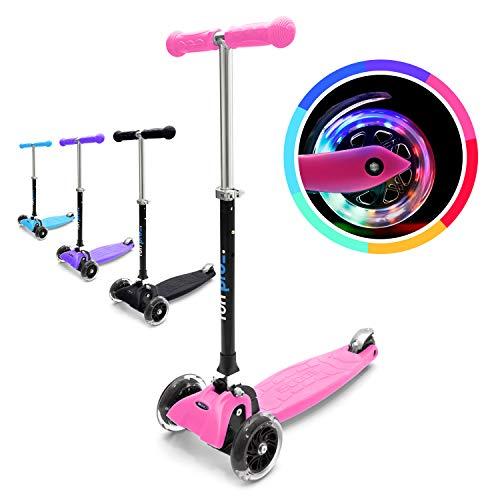 fun pro ONE - der sichere Premium Kinder Roller, LED 3 (DREI) Räder, faltbar, ab Kleinkind (Kickboard, Tretroller), für Junge und...
