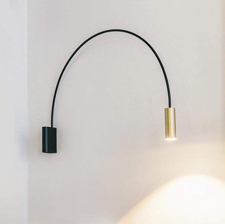 Nordic minimalistischen geometrischen halbkreisfrmigen Kupfer Schlafzimmer Nachtwandleuchte American Gang Treppenhaus Wohnzimmer Studie Wandleuchte
