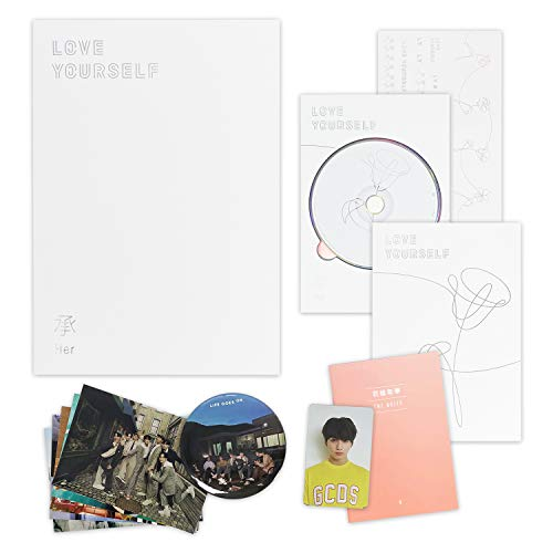 LOVE YOURSELF 轉 HER [ V ver. ] BTS 5th Mini Album CD + Photobook + Mini Book + Photocard + Sticker Pack + F.G