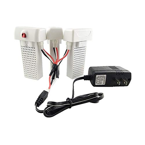 3PCS 7.4V 2000mAh Lithium Battery with 1PCS Conversion line with 1pcs Charger for SYMA X8SW X8SC X8SG X8 PRO Remote Control Aircraft Drone Accessories