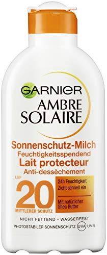 Garnier Ambre Solaire Delial Milch LSF 20, 3er Pack (3 x 200 ml)