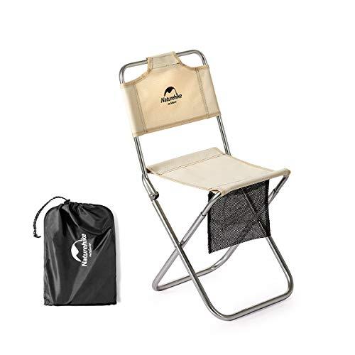 Naturehike 折りたたみ椅子 アウトドアチェア 超軽量 キャンプ椅子 コンパクト 背もたれ イス お釣り 登山 ピクニック ハイキング ビーチ 収納バッグ付 耐荷重80kg