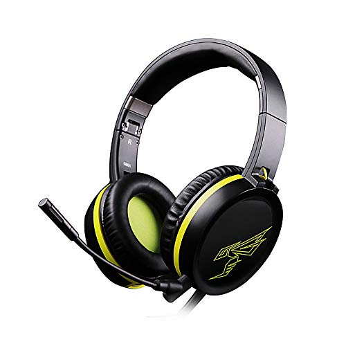 Gamogo Auriculares estéreo para Juegos con Cable G801 de 3,5 mm con micrófono para PC portátil