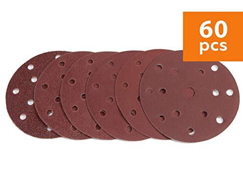 Wabrasive Schleifscheiben 150mm Klett 60 Stük - Körnung 10x 40/60/80/120/180/240   ø 150mm Exzenterschleifer Schleifpapier Set für Holz Metal Plastik