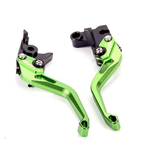 Auzkong Palancas de embrague de freno cortas ajustable para Kawasaki Z750 2007-2012, Z800/E 2013-2016 verde