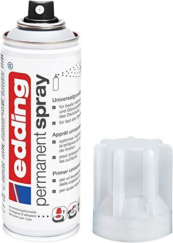 edding 5200 Permanent Spray Universalgrundierung - 200 ml - Grundierung zur Vorbereitung von lackierfähigen Oberflächen wie Glas, Metall, Holz, Keramik, Leinwand