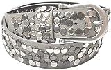 styleBREAKER Nietengürtel im Vintage Style, Gürtel kürzbar, Damen 03010008 (110cm, Grau)