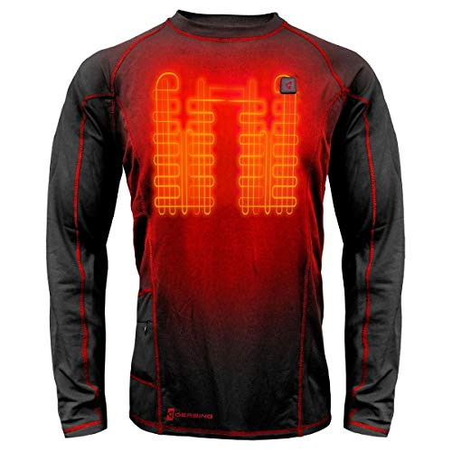 Gerbing 7V Battery Heated Shirt Men – Electric Heated Base Layer with Built-in Heat Panels for...