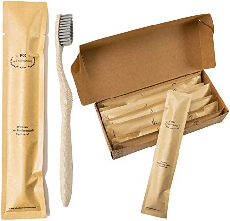 Bleeker and Rowe Biodegradable Eco Friendly Toothbrushes Individually Sealed BPA Free Soft Bristles product image