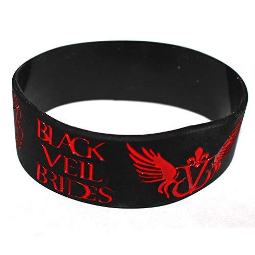 ZJZ Film rund um den BVB-Logo Rockband Armband Black Vell BRÄUTE Silikon-Armband Armband (Color : Black)