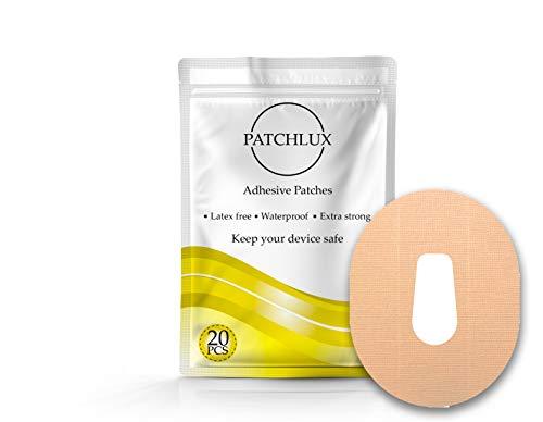 Patchlux selbstklebende wasserdichte Schutz-Patches für CGM-Sensor   Kompatibel mit Dexcom G6